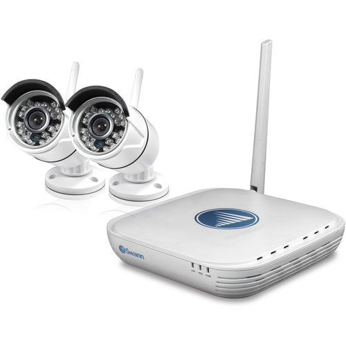 Swann 4-Channel 1080p NVR with 500GB HDD and 2 720p Outdoor Wireless Bullet Cameras