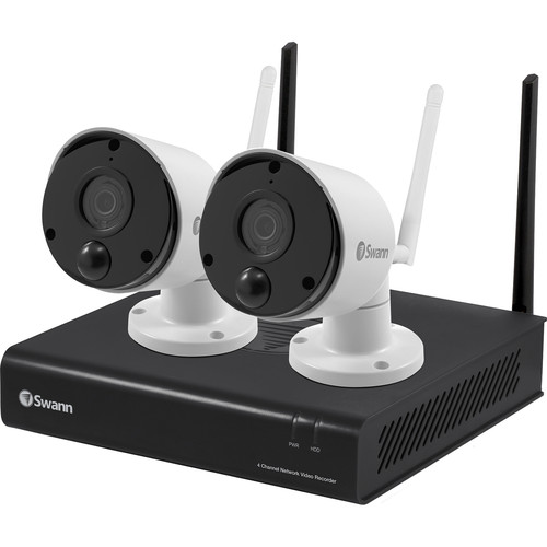 Swann NVW-490 4-Channel 1080p Wi-Fi NVR with 1TB HDD & 2 1080p Outdoor Night Vision Wi-Fi Bullet Cameras