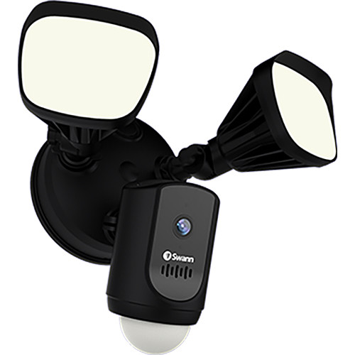 Swann 1080p Outdoor Wi-Fi Floodlight Security Camera with Night Vision (Black)