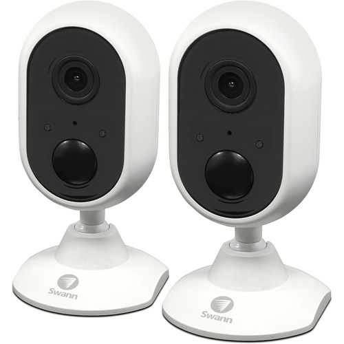 Swann SWWHD-INDCAMPK2-US 1080p Outdoor Wi-Fi Camera with Night Vision (2-Pack)