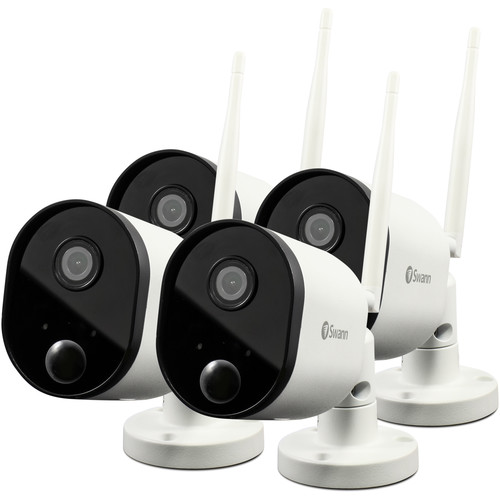 Swann SWWHD-OUTCAMPK4-US 2MP Outdoor Wi-Fi Network Camera with Night Vision (4-Pack)