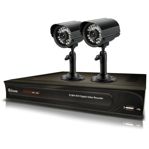 Swann WMT-HOMEDVR4 4-Channel DVR with 2 Night-Vision Cameras (500GB, NTSC)