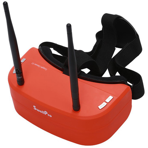 Swellpro 5.8G 48CH 3D FPV Goggles with Built-In DVR and Playback