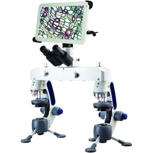 """Swift M3-F-BTW2 Forensic Comparison Microscope with WiFi Camera & 10"""" Tablet"""