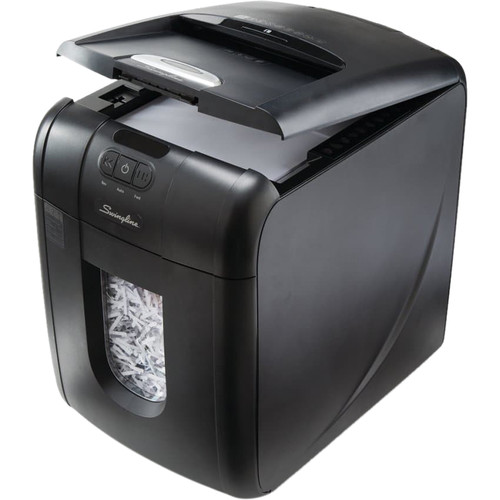 Swingline Stack-and-Shred 100X Cross-Cut Auto-Feed Shredder (100 Sheets, 1-2 Users)