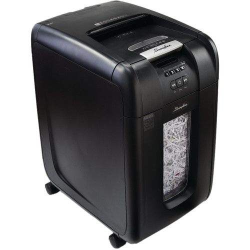 Swingline Stack-and-Shred 300X Cross-Cut Auto-Feed Shredder (300 Sheets, 5-10 Users)