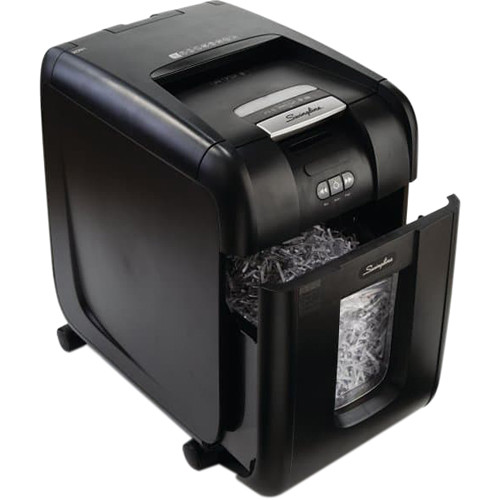 Swingline Stack-and-Shred 500X Cross-Cut Auto-Feed Shredder (500 Sheets, 10-20 Users)