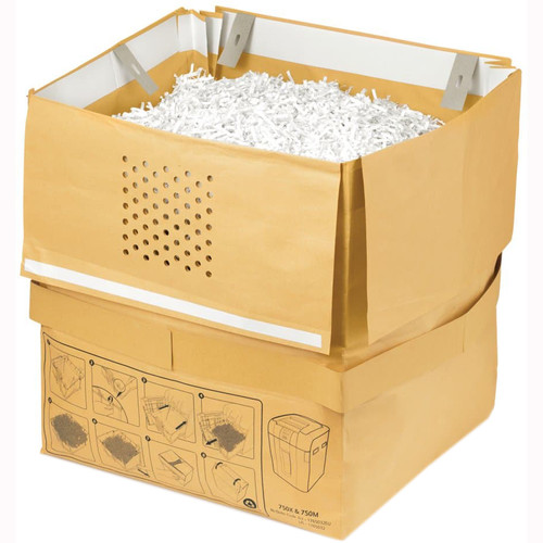 Swingline Recyclable Paper Shredder Bag for Stack-and-Shred 750X & 750M Auto-Feed Shredders (31 gal, 5-Pack)
