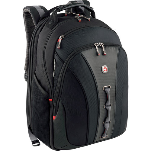 "SwissGear Legacy 16"" Computer Backpack (Black/Gray)"