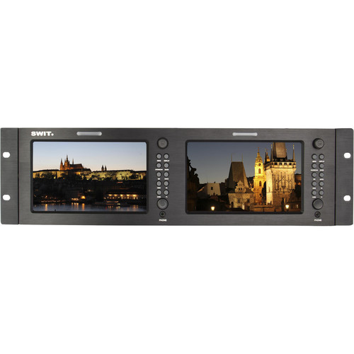 "SWIT M-1071H Dual 7"" 3GSDI and HDMI LCD Monitor (3 RU)"