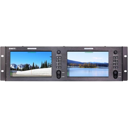 "SWIT Dual 7"" FHD Rackmount LCD Monitor (3 RU)"