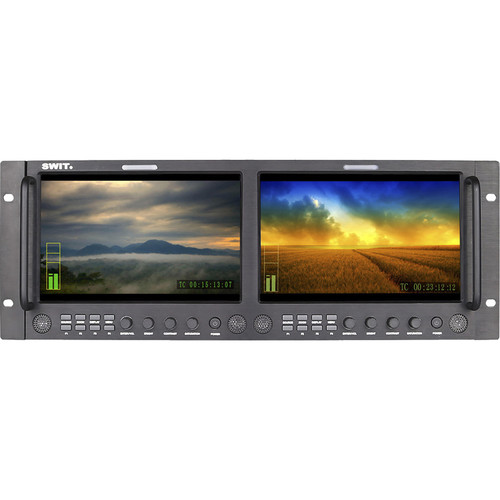 "SWIT Dual 9"" Full HD SDI/HDMI Rack LCD Monitor"