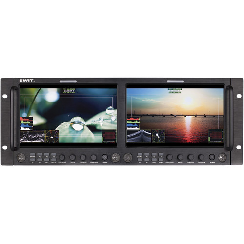 "SWIT M-1093F Dual 9"" FHD Waveform Rack LCD Monitor"