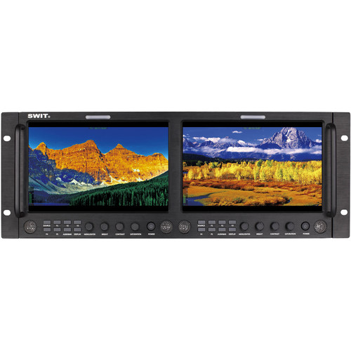 "SWIT Dual 9"" Full HD Rack LCD Monitor with IPS Panel"