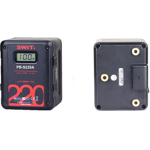 SWIT PB-S220S 14.4V 220Wh Multi D-Tap Heavy-Duty Digital Battery (V-Mount)