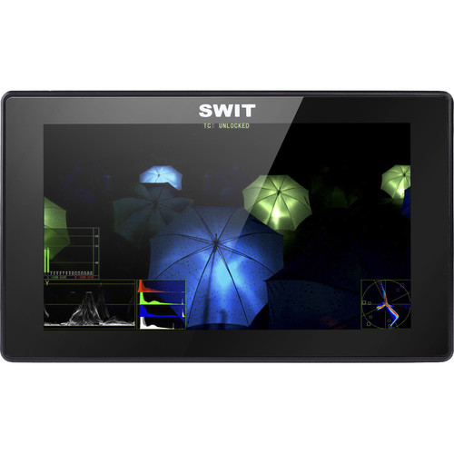"""SWIT S-1053F 5.5"""" Full HD Waveform LCD Monitor with S-7003C Canon BP Battery Plate"""