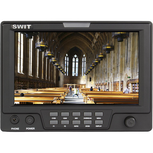 "SWIT S-1071CP 7"" On-Camera Monitor with Panasonic D54S/D28S Battery Mount"