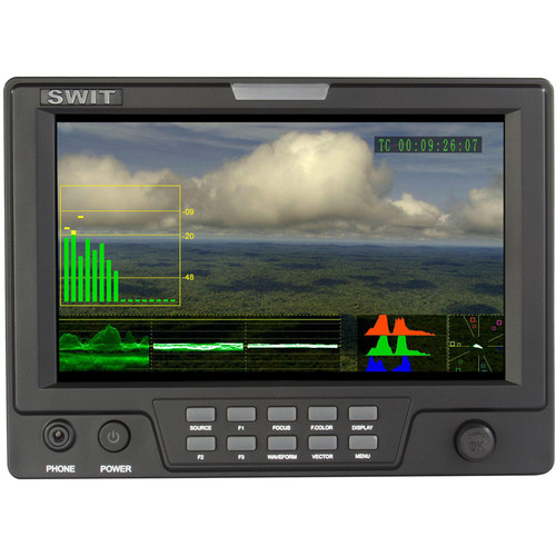"SWIT S-1071F 7"" HD-SDI & HDMI On-Camera Waveform Monitor Luxury Package"