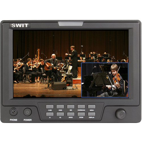 """SWIT S-1071F(EFP) 7"""" EFP Field LCD Monitor with Picture-in-Picture Function and Dual HD Video Input"""