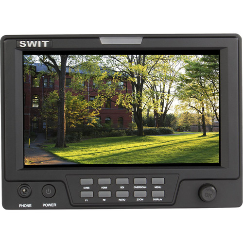 "SWIT S-1071HE 7"" LCD On-Camera 3G-SDI/HDMI Monitor (Canon DSLR LP-E6)"