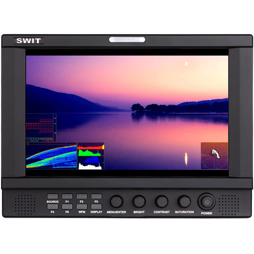 "SWIT SWITS-1093F 9"" Full HD Waveform LCD Monitor with 8 Interchangeable DV Battery Plates for GoldMount"