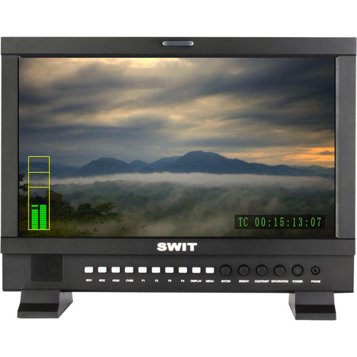"SWIT S-1161HA 15.6"" Full HD Studio LCD Monitor with S-7000A Gold Mount-Type Battery Plate"