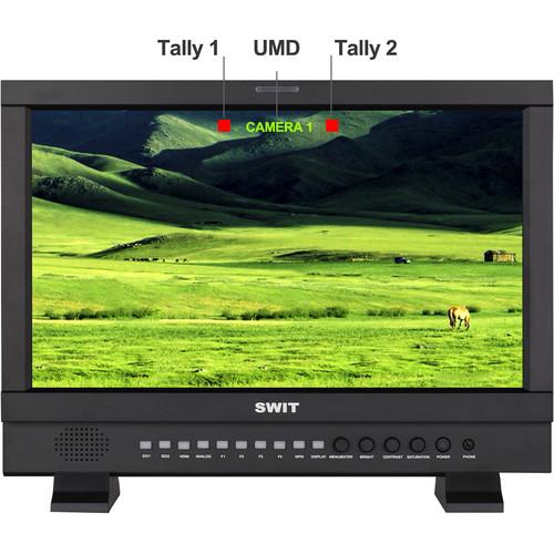 "SWIT 17.3"" Full HD 3G-SDI & HDMI Studio LCD Monitor (Gold Mount)"