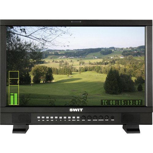 """SWIT S-1221HA 21.5"""" Full HD Studio LCD Monitor with S-7000A Gold Mount-Type Battery Plate"""