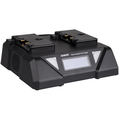 SWIT Dual-Channel Fast Charger for Two Gold Mount Batteries
