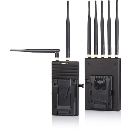 SWIT 700m 3GSDI/HDMI Wireless System with V-Mount on Transmitter & Receiver
