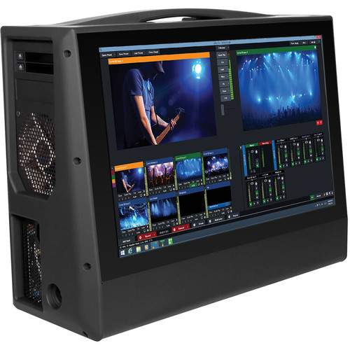 "Switchblade Systems Turbo/Portable vMix Based SDI/HDMI Workstation. Portable Live Production Case,  17"" Screen"