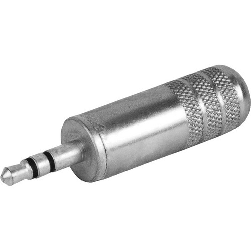 Switchcraft 3.5mm TRS Male Cable Connector (Nickel Handle, Tin-Plated Connector)