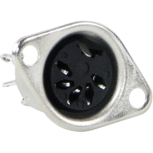 Switchcraft Female DIN Panel Mount Connector (5 Contacts, 180 Degrees)