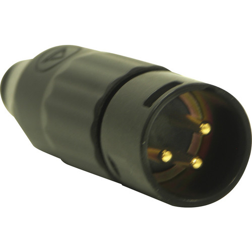 Switchcraft AAA Series 3-Pin XLR Male Cable-Mount Connector (Black Metal Shell, Gold Contacts)