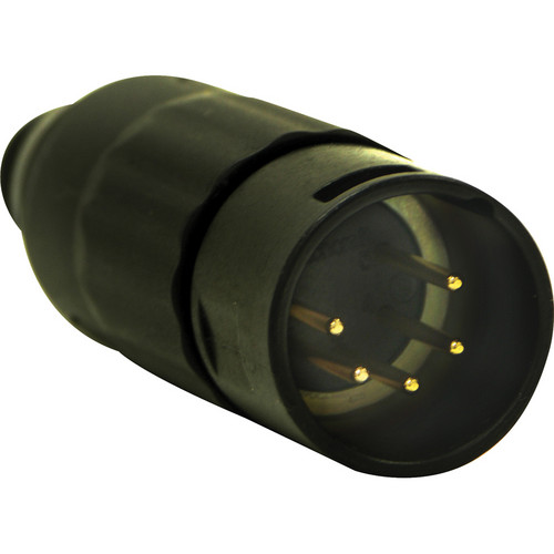 Switchcraft AAA Series 5-Pin XLR Male Cable Mount (Black Metal, Gold)