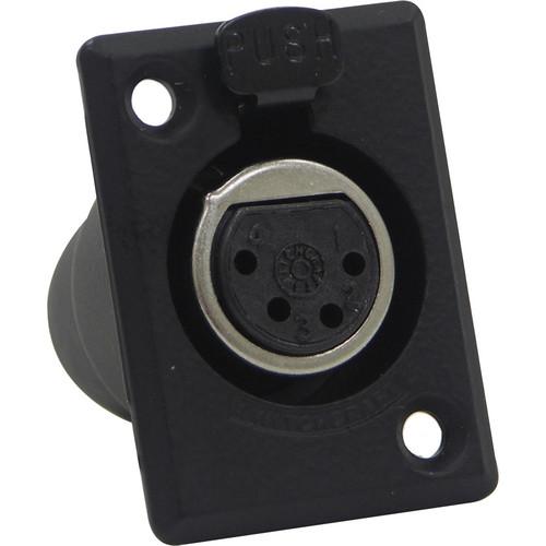Switchcraft D Series 4-Pin XLR Female (Black Finish, Gold Pins)