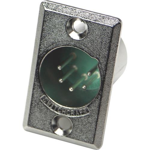 Switchcraft D Series 5-Pin XLR Male (Nickel Finish, Silver Pins)