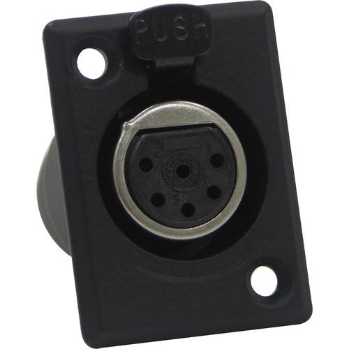 Switchcraft D Series 6-Pin XLR Female (Black Finish, Silver Pins)