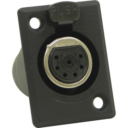 Switchcraft D Series 7-Pin XLR Female (Black Finish, Gold Pins)