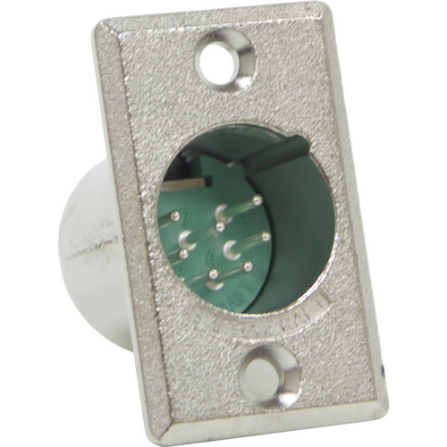 Switchcraft D Series 7-Pin XLR Male (Nickel Finish, Silver Pins)