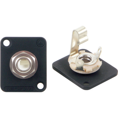 "Switchcraft 1/4"" Panel Mount Mono Jacks (Black, Non-Locking)"