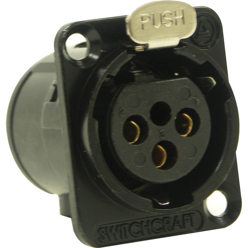 Switchcraft E Series 3-Pin XLR Female Solder Contacts (Black, Gold)