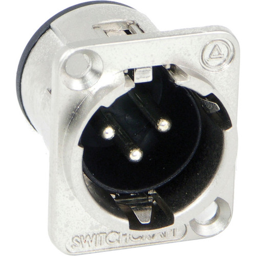 Switchcraft E Series 3-Pin XLR Male Solder Contacts (Nickel, Silver)