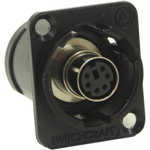 Switchcraft EH Series PS/2 Mouse Jack Connector (Black Chrome Finish)