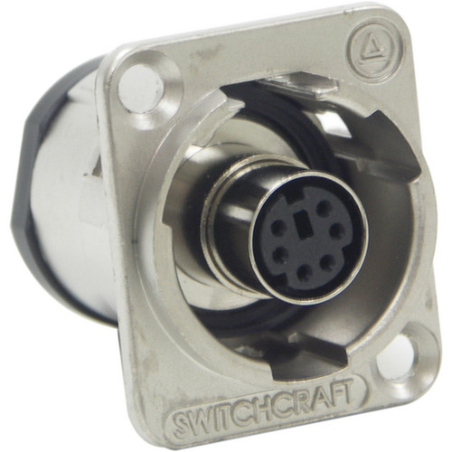 Switchcraft EH Series PS/2 Mouse Jack Connector (Nickel Finish)