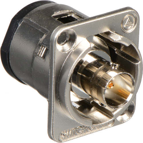 Switchcraft EH Series EHBNC2 75-Ohm BNC Female Feed-Through Adapter (Nickel Finish)