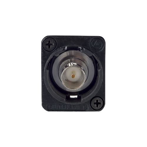 Switchcraft EH Series BNC Female to BNC Female Feed-Through Panel Mount Connector (75 Ohms, Black)
