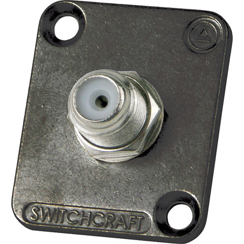 Switchcraft EH Series F-to-F Feed-Through Connector with Black Chrome Flange