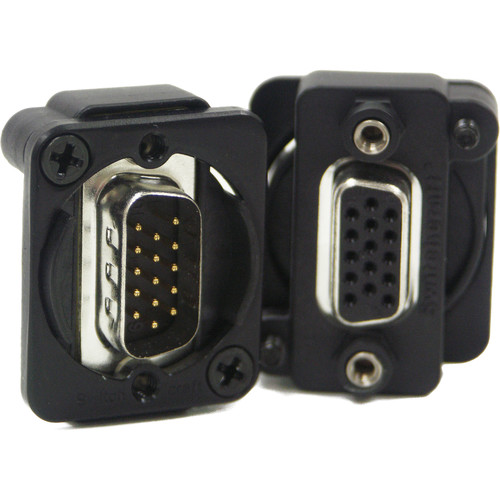 Switchcraft EH Series VGA Male to Female Connector (Black)