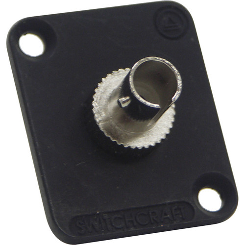 Switchcraft EH ST Fiber Optic Feedthrough Connector (Black, Multi-Mode)